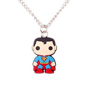 Superman Rubber Fashion  necklace